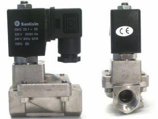 Magnetventil, Edelstahl, 1/2 Zoll, 230 V AC