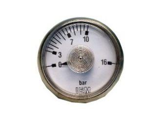 Manometer im  Edelstahlgehäuse, 0 – 16 bar – 1/8 Zoll Anschluss