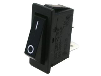 Wippenschalter –  1 polig für  ZollSnap in Zoll Montage –  Schaltleistung: 125 V AC 10 A, 250 V AC 5 A –  Kontaktwiderstand: 50 mOhm max. –  Isolationswiderstand: DC 500 V 100 MOhm min. –  Spannungsfestigkeit: AC 1500 V/60 s.