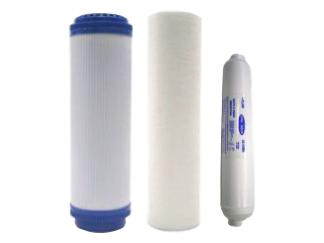 Filterset für Umkehrosmose – Anlage Chic 4  mit Quickfittings am Abschlusskohlefilter