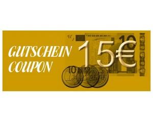 Gutschein über 15 € brutto
