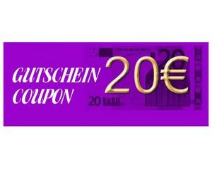 Gutschein über 20 € brutto