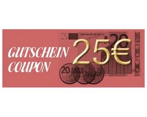 Gutschein über 25 € brutto