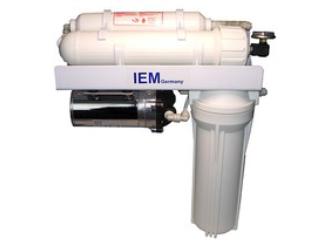Umkehrosmose – Anlage Typ Aqua Profi Deluxe mit 1:1 Verhältnis Produkt – Abwasser bei 380 Liter / Tag mit Mischbettharzfilter !