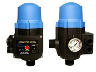 Elektronikschaltautomat für ElektropumpenSpannung: ~220/240 Vmax. Strom: 10 (6) AFrequenz: 50/60 HzSchutzklasse: IP65Startdruck: 1,5 – 3 barmax. Betriebsdruck: 10 bar